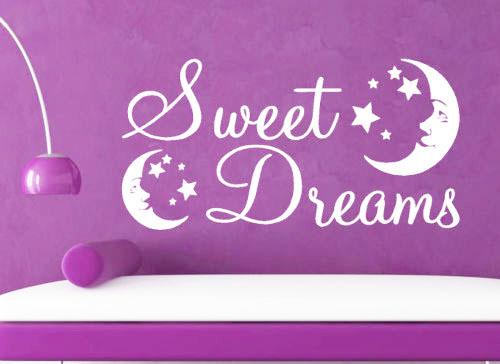 SWEET DREAMS dream moon stars bedroom wall stickers home decor Nursery Vinyl Wall Sticker Art Kid Room Decor - Davesion Electronic Co.,Ltd store