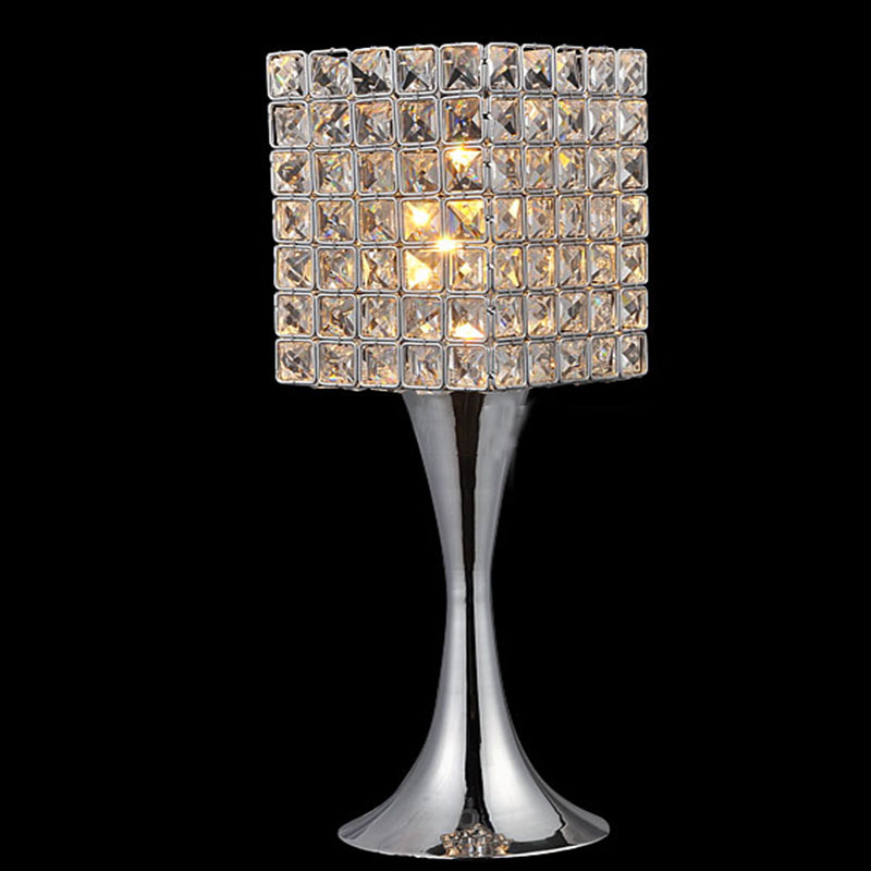 New Item Hot Sales Contemporary Crystal Table Lamps, Beautiful Bedroom Lighting Designs Free Shipping(China (Mainland))