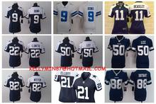 Stitiched,Dallas Cowboys,Tony Romo,Emmitt Smith,Cole Beasley,Sean Lee,Jason Witten,Ezekiel Elliott,for women(China (Mainland))