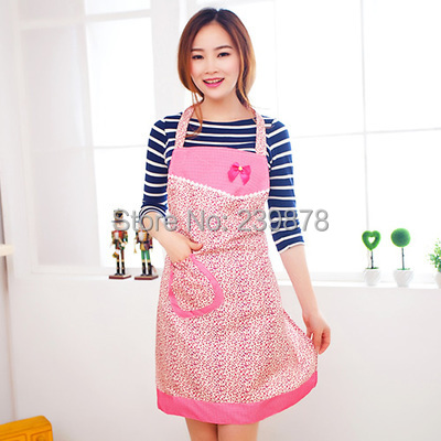 Free Shipping Flower Pattern Pocket Lace Restaurant Home Kitchen Bib Apron Dress Cooking baking Apron 2749(China (Mainland))