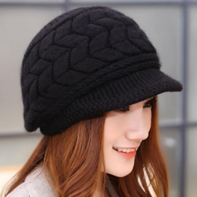 Fashion Autumn & Winter Beanies Knit Hats For Women Warm Ladies Female Beret Bonnets #225113
