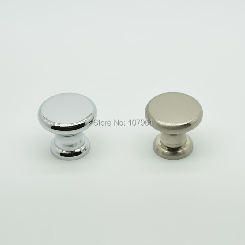 flat top round zinc alloy single hole cabinet knobs and