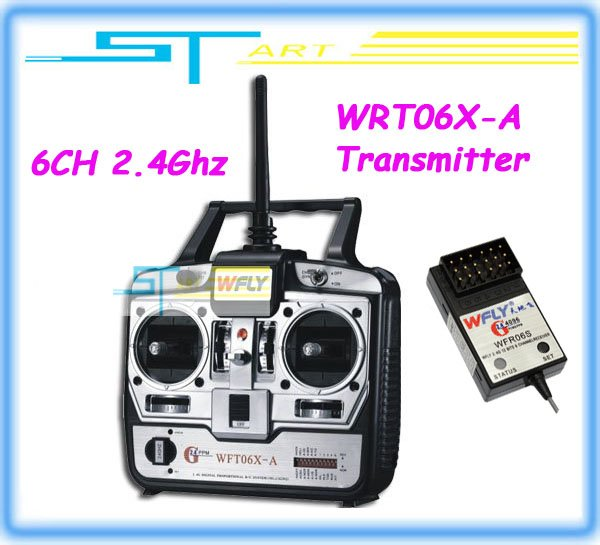 2.4G WFT06X-A Transmitter and Receiver  Combo remtoe control for Multicopter Beginner Player 12873   Free shipping Rc gift