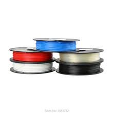 PLA 1.75mm 0.5Kg/spool Plastic Rod Rubber Ribbon Consumables Material Refills for MakerBot/RepRap/UP/Mendel 3D Printer Filaments