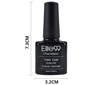 Elite99 10ml Chameleon Temperature Changing Color UV Gel Varnish Soak Off UV Nail Gel Polish Long Lasting Summer Hot Nail Gel