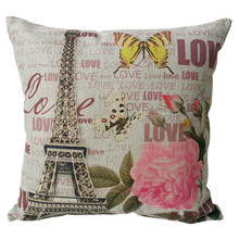 Eiffel Town Butterfly Digital Printed Cotton Poly Cushions