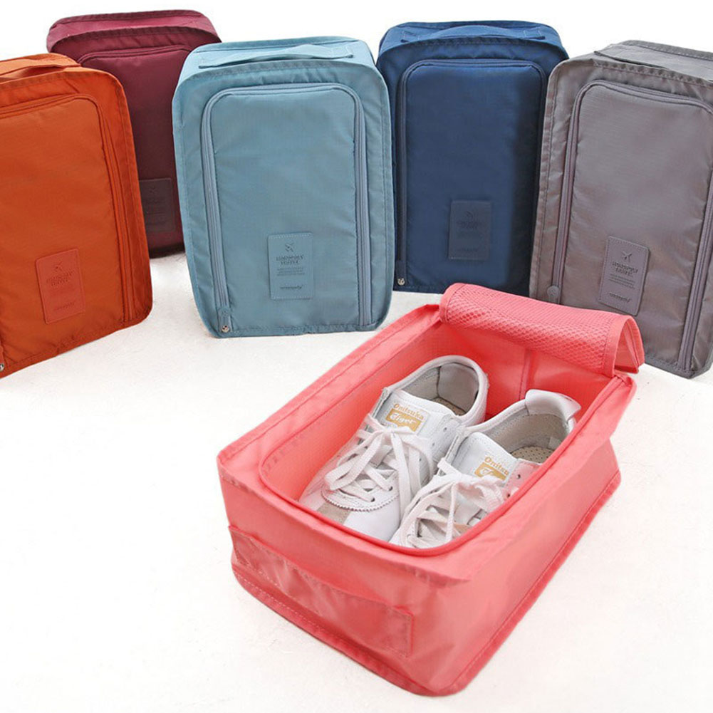 Fashion Nylon Mesh Portable Tote Shoes Pouch Waterproof Storage Bag Korea Style Gifts Camping 4 Colors(China (Mainland))