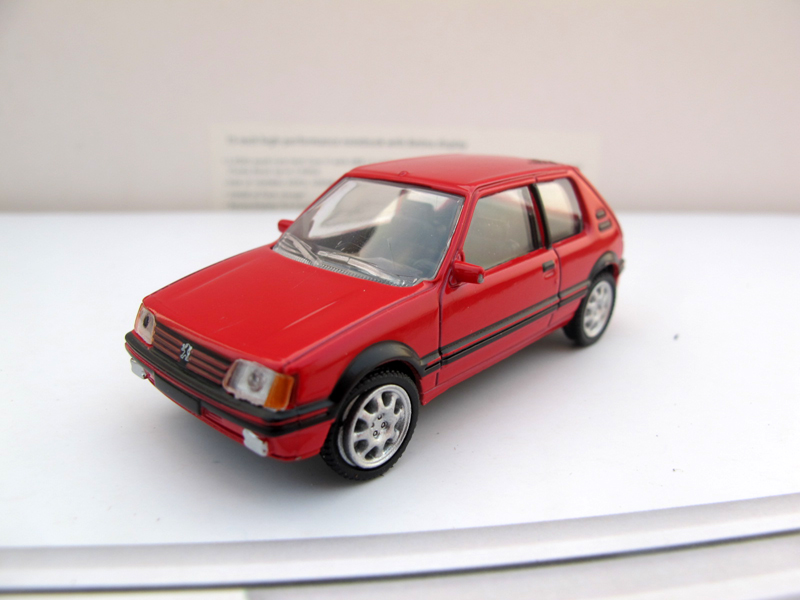 Peugeot alloy model car NOREV 1:64 logo PEUGEOT 205 GTI Red(China (Mainland))