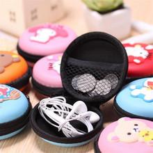 Cute cartoon earphone box headphones portable storage case bag wallet coin purse key usb cable organizer box bags(China (Mainland))