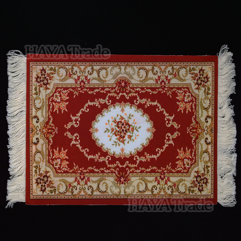 Persian Rug Cup Mat Creative Decor Coffee Drink Placemat