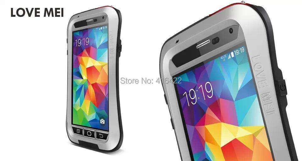 Здесь можно купить  30pcs/lot S5 Original Love Mei Powerful waterproof Metal Aluminum Case for Samsung Galaxy s5 + Gorilla Glass Free Shipping   Телефоны и Телекоммуникации