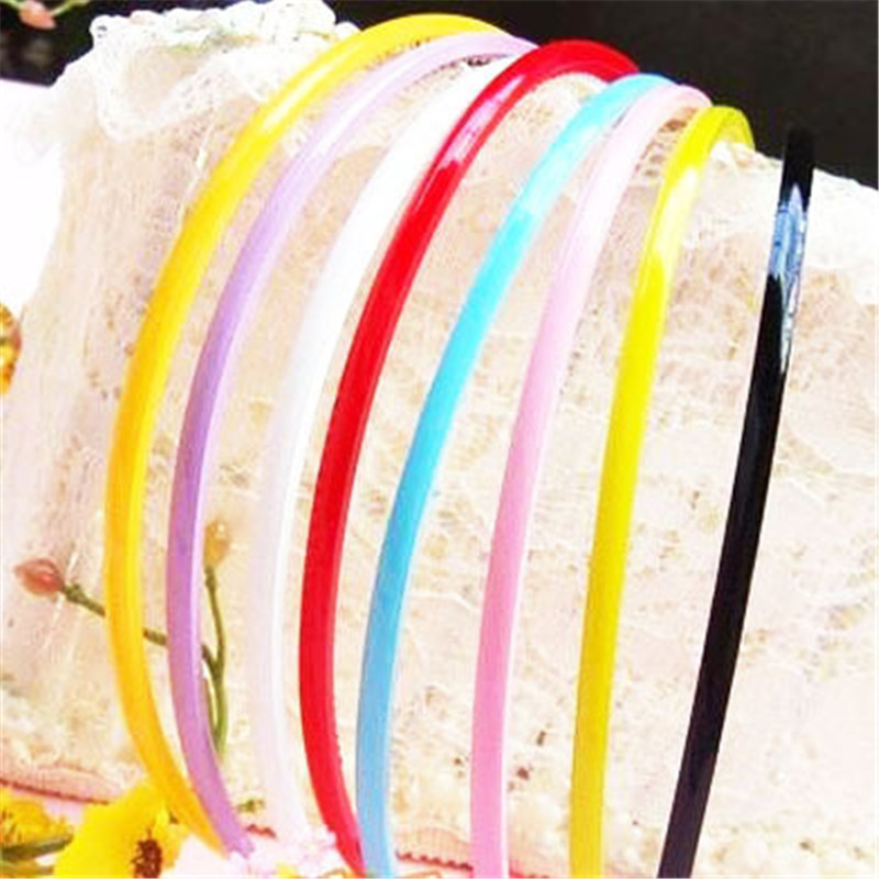 New 10pcs Mix Candy Color Plastic Headbands Thin Hair Hoops Teeth Headwear for Women Girls Hair Accessories(China (Mainland))