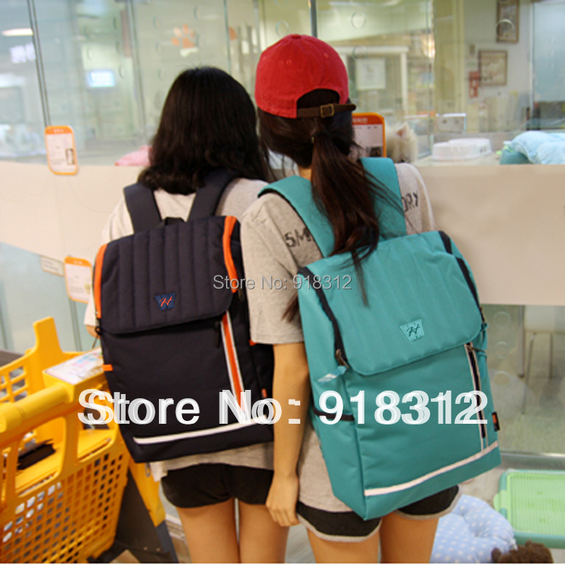 WOOVAN male backpack neon color block girl middle school students bag travel bags laptop - VIVINI Leatherware store