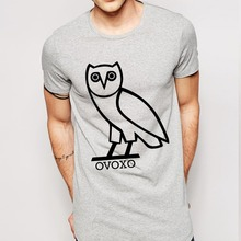 Gufo t-shirt da uomo drake swag uomo t-shirt in cotone o collo mens tshirt trasporto libero del fumetto supera tees(China (Mainland))