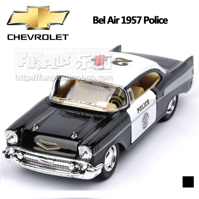 High Simulation Exquisite Baby Toys KiNSMART Car Styling CHEVROLET Bel Air 1957 Polic Car 1:40 Alloy Sports Car Model Best Gift(China (Mainland))