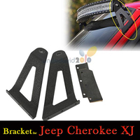 2pcs/A pair Roof Mounting Brackets For Jeep Cherokee XJ 1984~2001 Fit 50 inch Curved LED Light Bar Upper Windshield Roof Mounts