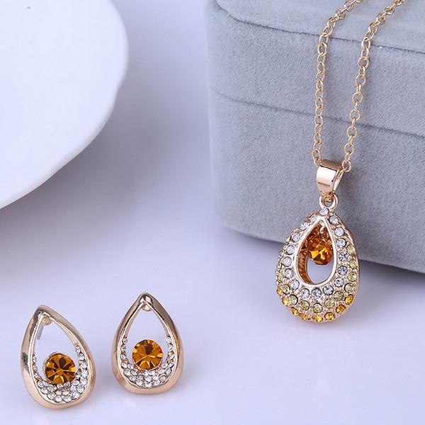 Water Drop Crystal Bridal Jewelry Set free shipping worldwide