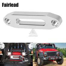 4000lbs hawse aluminum fairlead for synthetic winch rope,auto parts,crookedy for atv winch(China (Mainland))