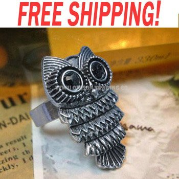 fashion vintage OWL adjustable ring 2011 new arrival promotion discount lovely jewelry rig-b50