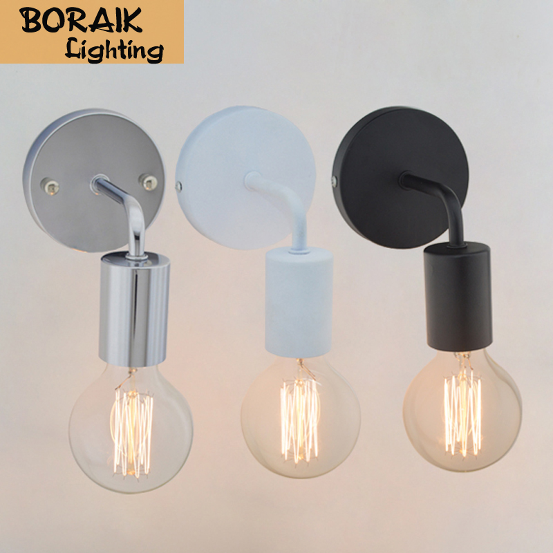 Loft American Vintage Wall Lamps Industrial Indoor Lighting Bedside Lamps Wall Lights for Home Decoration E27 Black/White Color<br><br>Aliexpress