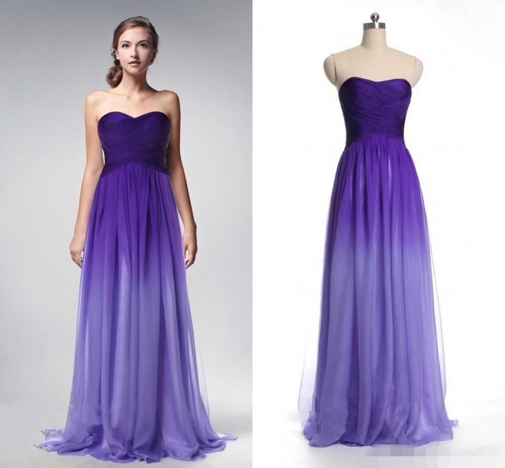Online Get Cheap Purple Gradient Prom Dress -Aliexpress.com ...