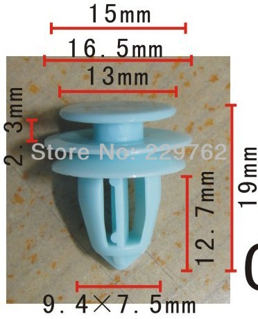 100PCS Door plank Retainer For Honda  Auto Fasteners Plastic  Rivet Plastic Clips For Cars Body Automotive Plastic Fastners Clip<br><br>Aliexpress