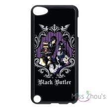 For iphone 4/4s 5/5s 5c SE 6/6s plus ipod touch 4/5/6 back skins mobile cellphone cases cover Black Butler Kuroshitsuji Anime