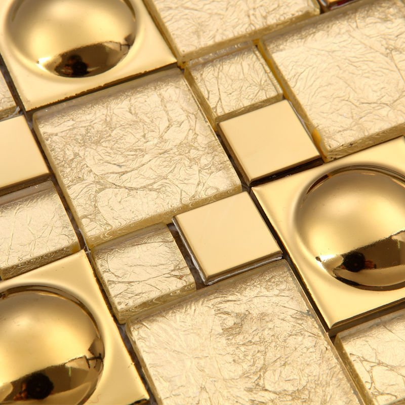 Magic pattern Gold Glass Kitchen Backsplash tiles Ideas Bathroom Walls pool bar hotel room remodling porcelain discounted tiles(China (Mainland))