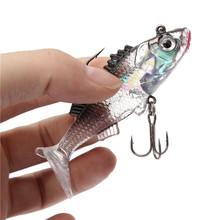 Hot sale Paillette Fishing Lure 7.6cm Artificial Soft bait Carp Crankbait with Treble Tackle Hooks Fishing accessories(China (Mainland))