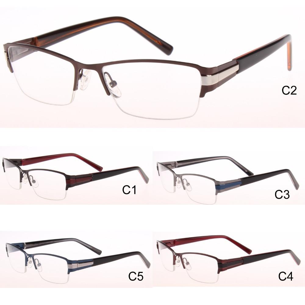2014 New High Quality glasses men Half metal eyeglasses ...