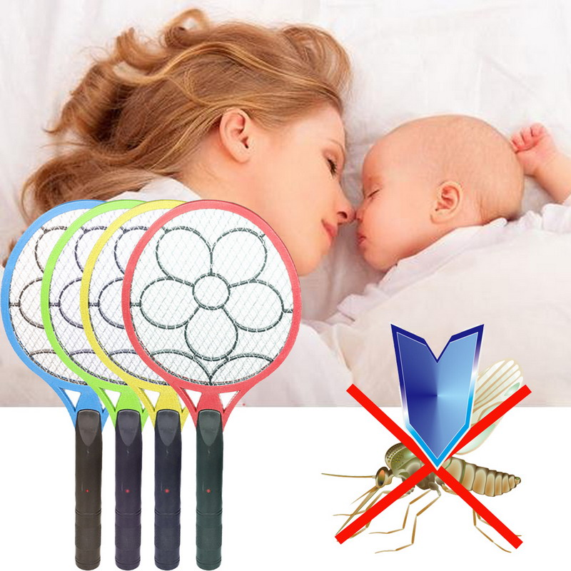 New 20*50CM Dry Cell Hand Racket Electric Swatter Home Garden Pest Control Insect Pest Bug Bat Wasp Zapper Fly Mosquito Killer(China (Mainland))