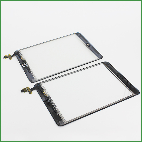 100% Test For Ipad Mini Touch Digitizer Screen + IC Flex Chip + Home Button Flex Black and Open Tools Free shipping(China (Mainland))