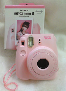 New arrival fuji polaroid mini8 camera pink blue white black once bakufu clearshot imaging(China (Mainland))