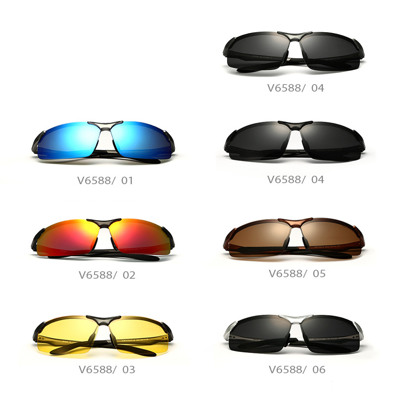 Aluminum Alloy Men s Sunglasses Polarized Lens Driver Mirror Sun Glasses Male Fishing Outdoor Sports Eyewears