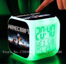 Minecraft 2015 Alarm Clock with LED game Minecraft action & toy figures minions Electronic Toys Minecraft My Neighbor Totoro(China (Mainland))