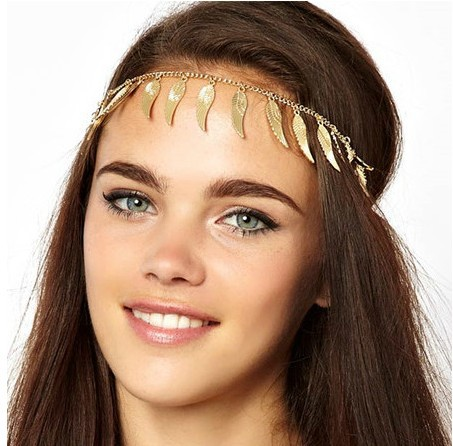 New angel wings feather tassel hair band metal texture of hair(China (Mainland))