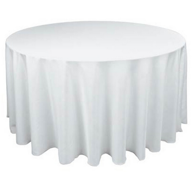 10PCS New Tablecloth Table Cover Round Satin for Banquet Wedding Party Decor 120
