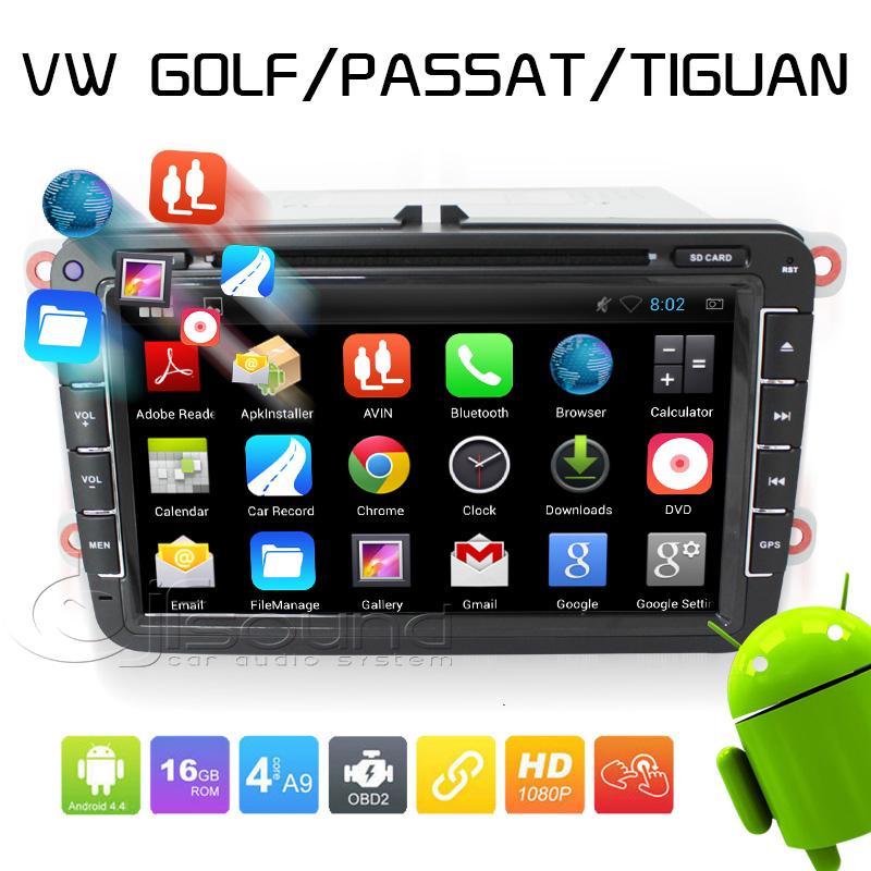 Quad Core RK3188 1024*600 2 Din Android 4.4 VW Car DVD GPS Navi GOLF 6 Polo Bora JETTA PASSAT B6 Tiguan SKODA OCTAVIA Fabia KD 7(China (Mainland))