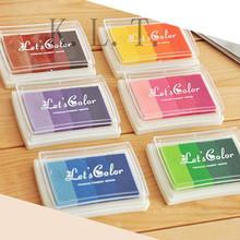 1PCS 6 Color  Homemade DIY Gradient Color ink Pad  Multicolour Inkpad Stamp Decoration Fingerprint Scrapbooking  Accessories(China (Mainland))