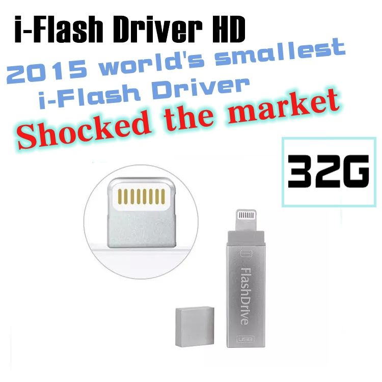 2015 Newest ! i-Flash Drive HD USB Memory Device for iPhone/5/5c/5s/6/6Plus/iPad/iPod usb interface flash drive for PC/MAC 32G(China (Mainland))