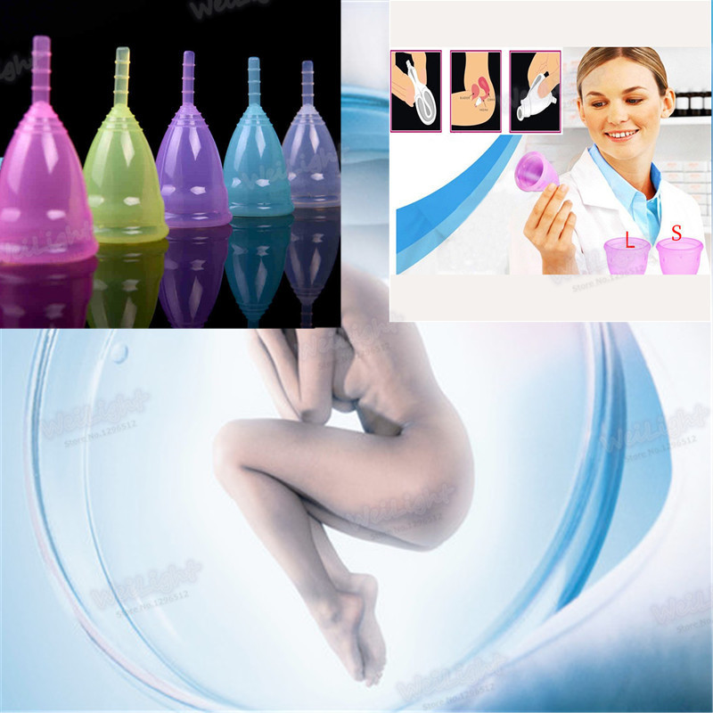 1Pcs/lot vagina medical grade silicone menstrual cup feminine menstruation hygienic pad coupe menstruelle Reusable diva cup(China (Mainland))