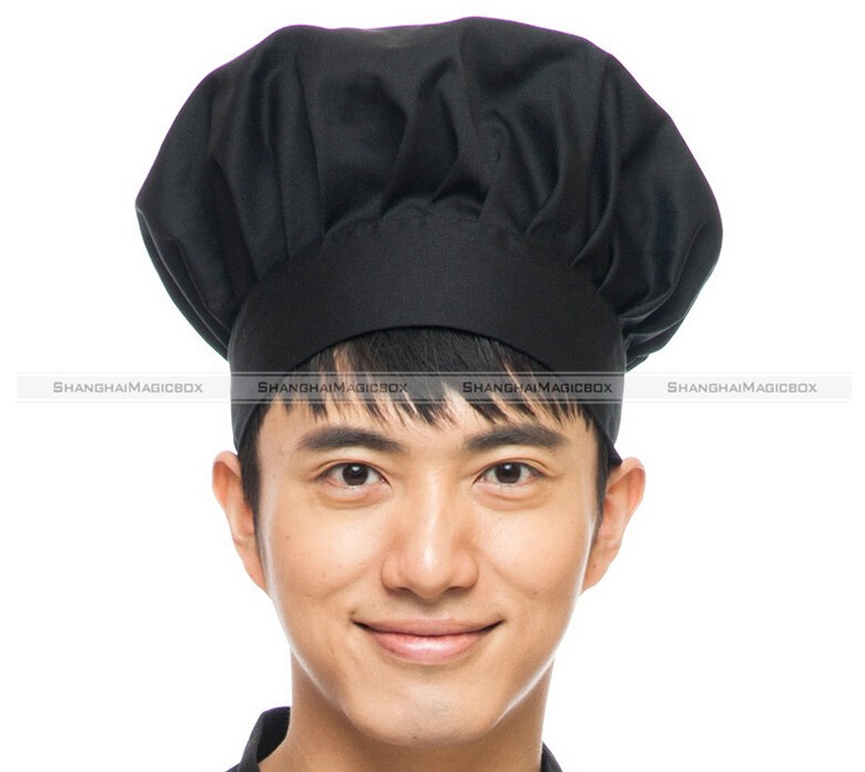 1pc Chef Hat One Size Fits All Free Restaurant Uniform Black White Red TFS 40115520(China (Mainland))