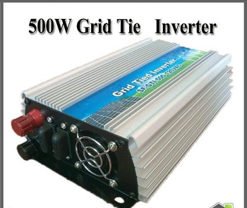 500w New Grid Tie Inverter on grid System For Solar panel PV DC 12/24V/36V/48V to AC 220V/110v+10% Pure Sine Wave MPPT Function