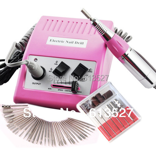 Free Shipping - 30,000 RPM Nail Art Electric Pedicure Nail Drill With 36pcs Bits drill