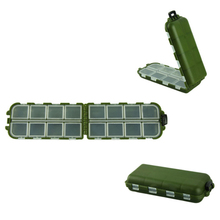 Delicate army green plastic fishing tackle box fishing hook 8 Compartments Storage Case Hot Selling