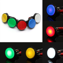 5 Colors LED Light Lamp 60MM Big Round Arcade Video Game Player Push Button Switch Promotion(China (Mainland))