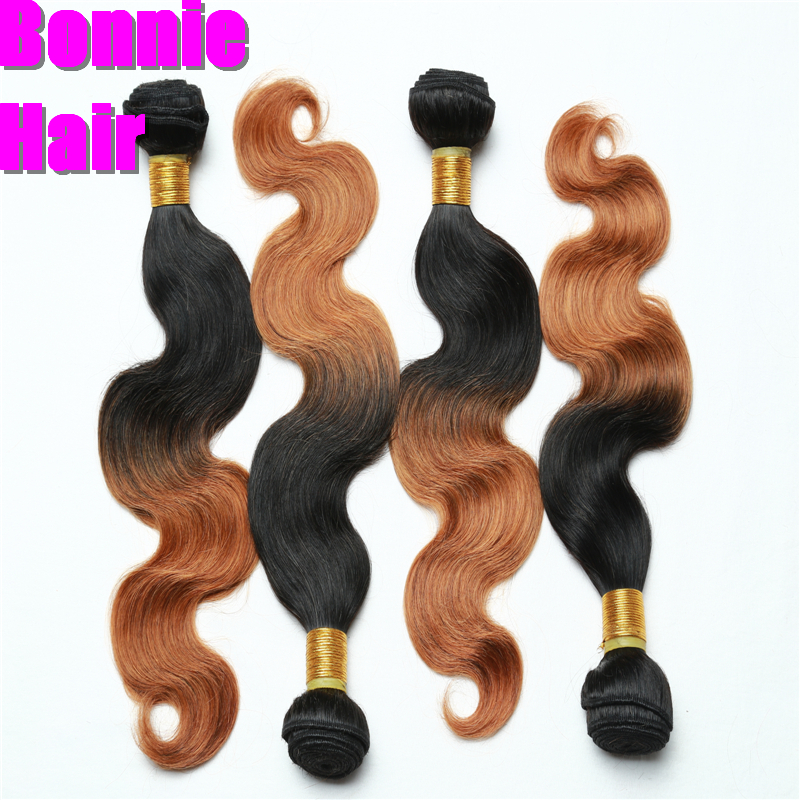 T1B 27 3Pcs/Lot Ombre Hair Extensions Unprocessed Ombre Brazilian Virgin Hair Body Wave Ombre Human Hair Weave Bundles Asteria