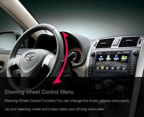 7 TouchScreen GPS Navigation Car DVD player Double 2 Din Car Stereo Audio Ipod Bluetooth Analog