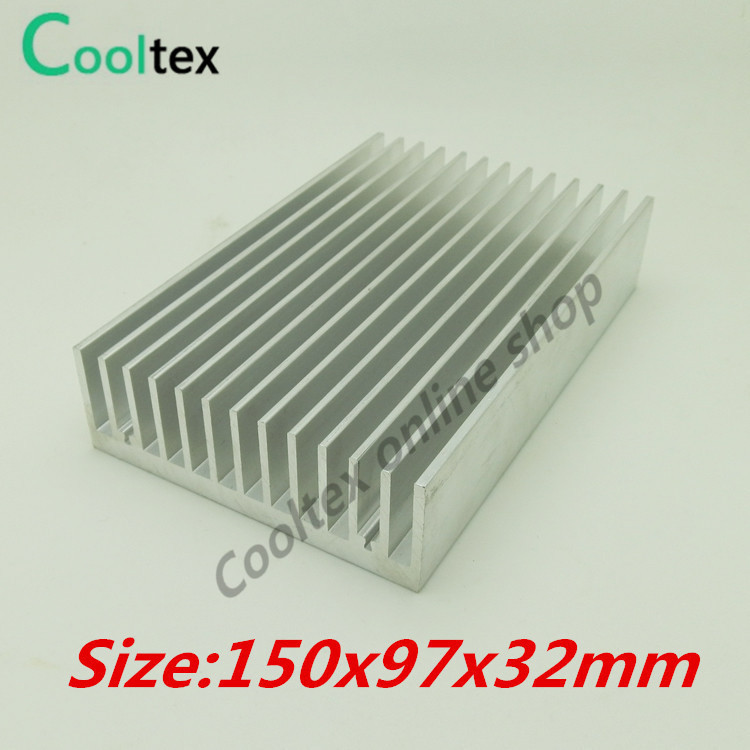 (High power) 150x97x32mm Aluminum heatsink  Heat Sink radiator  cooler for chip LED Electronic cooling