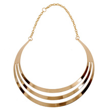 2015 Fashion Multilayer Metal Wire Neck Fit Torques Golden Silver Statement Jewelry Personality Women Collar Necklaces